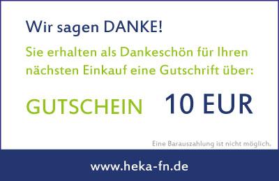 10 EUR Gutschein als Dankeschön!